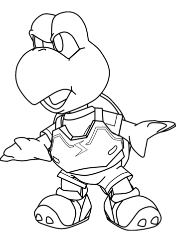 353x480 Koopa Troopa Turtle Coloring Page Free Printable Coloring Pages