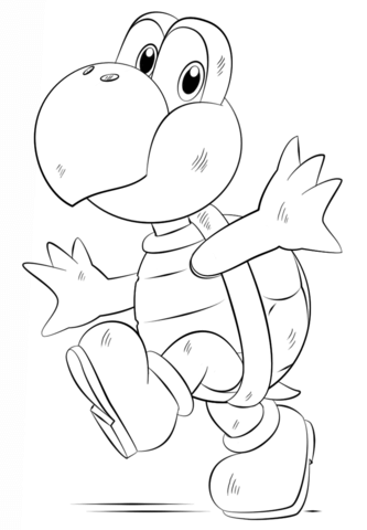 333x480 Koopa Troopa Coloring Page Free Printable Coloring Pages