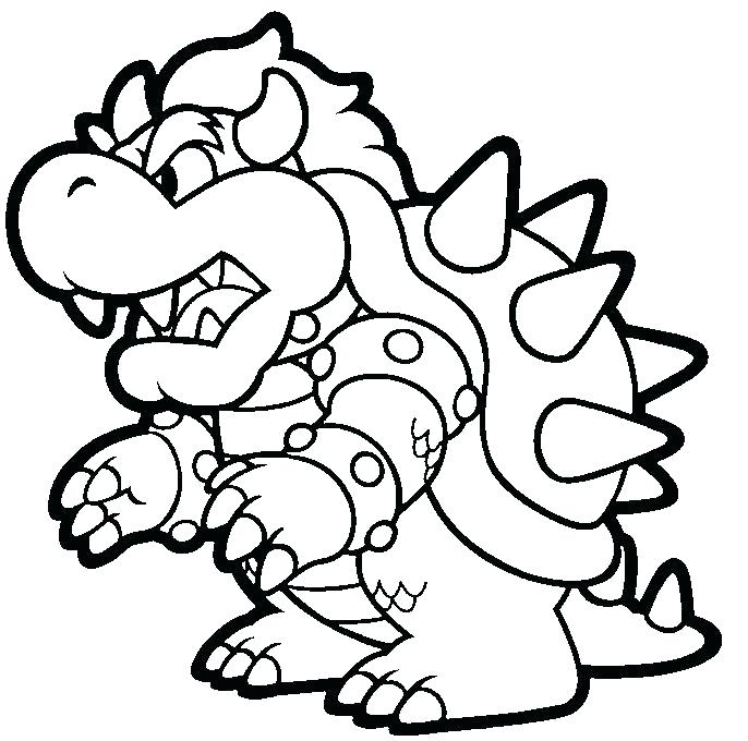 686x680 Super Mario Coloring Pages Black And White 2 Super Mario Coloring