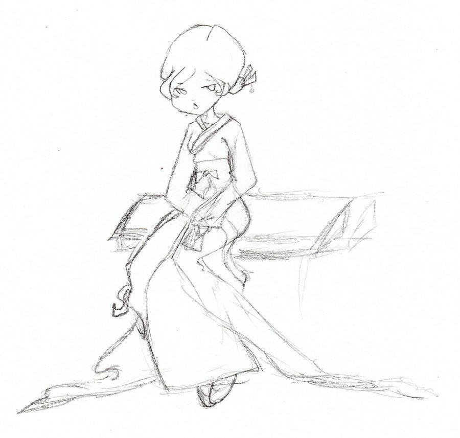 900x857 Sketch Of Korean Dress By Wolfbane1