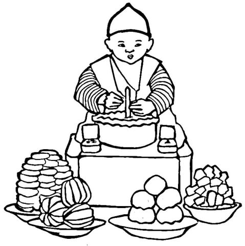 479x480 Korean Food Coloring Page Free Printable Coloring Pages