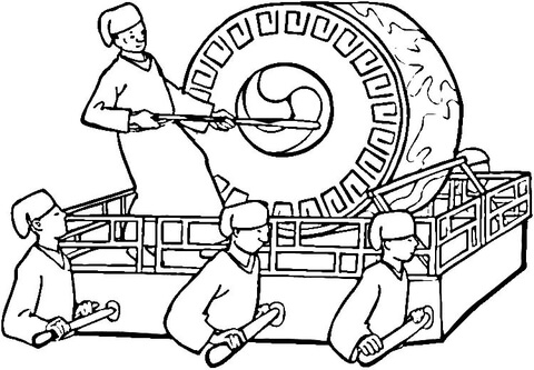 480x333 Korean Ceremony Coloring Page Free Printable Coloring Pages