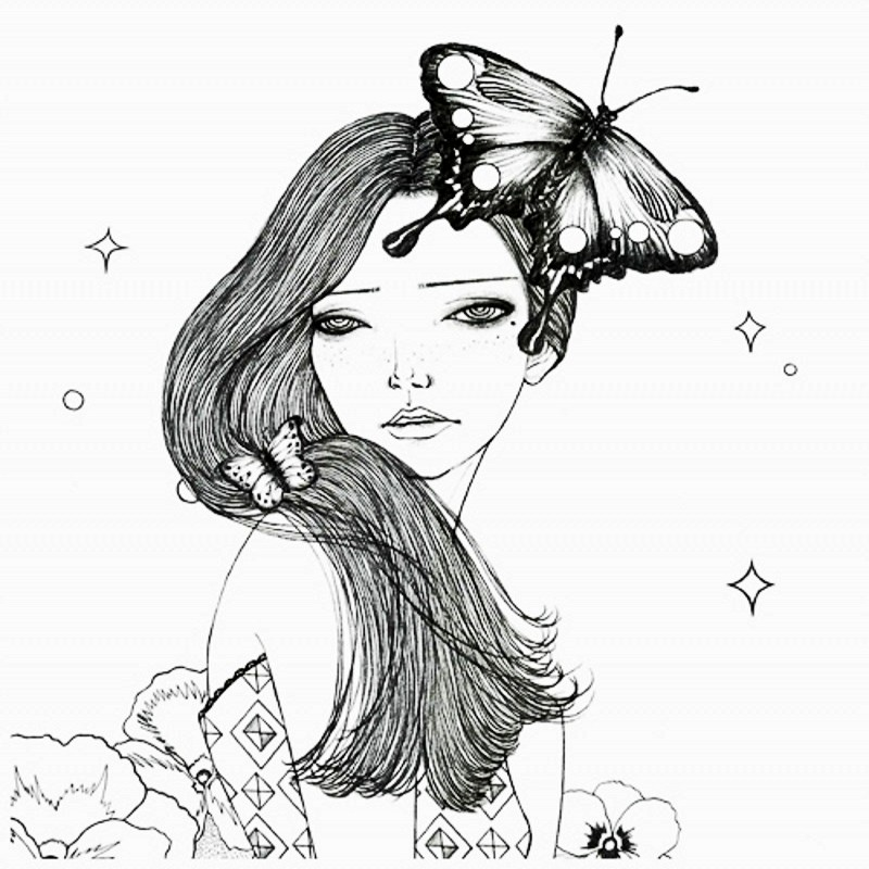 800x800 96 Pages Korea Dream Girl Coloring Book For Children Adults