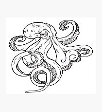 210x230 Kraken Tattoo Drawing Photographic Prints Redbubble