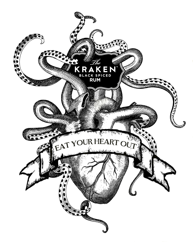 1985x2480 Release The Kraken! Monster's Ink Art Macabre Drawing Salons