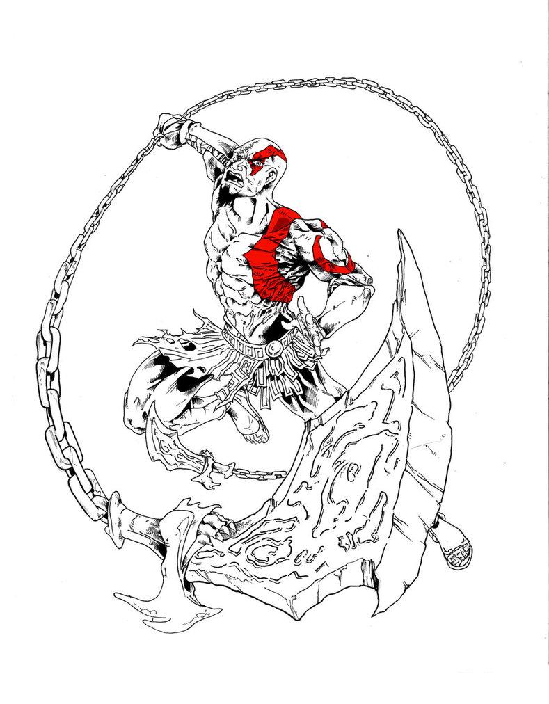 789x1012 Kratos Battle Artist By Parisalleyne