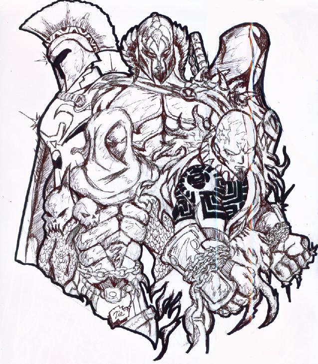 637x730 Kratos Alternates By Agent19xs