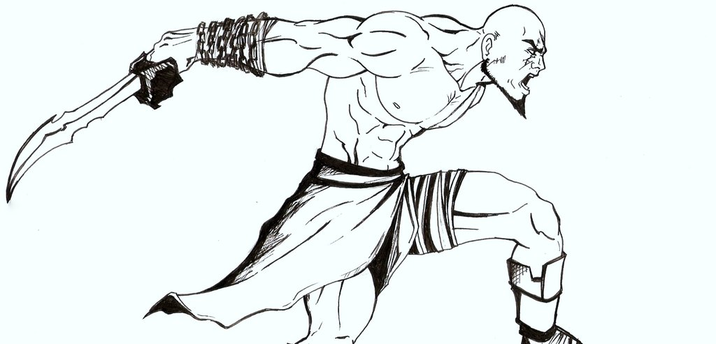1024x493 Kratos God Of War By Dubarbosa