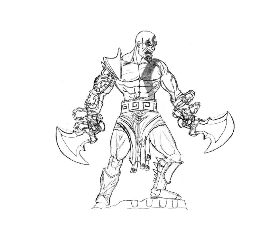 950x841 Kratos Sketch By Albundyland