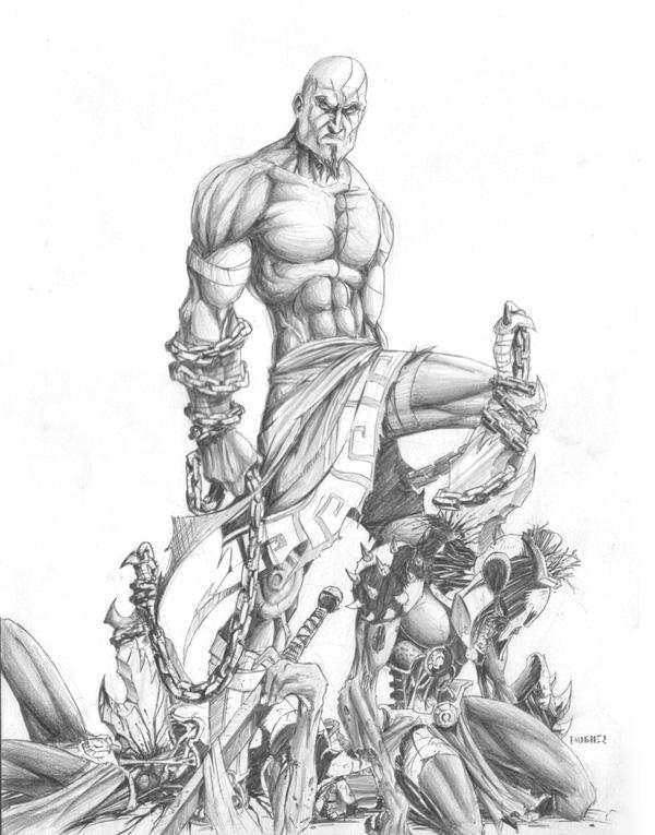600x765 Kratos By Merrk