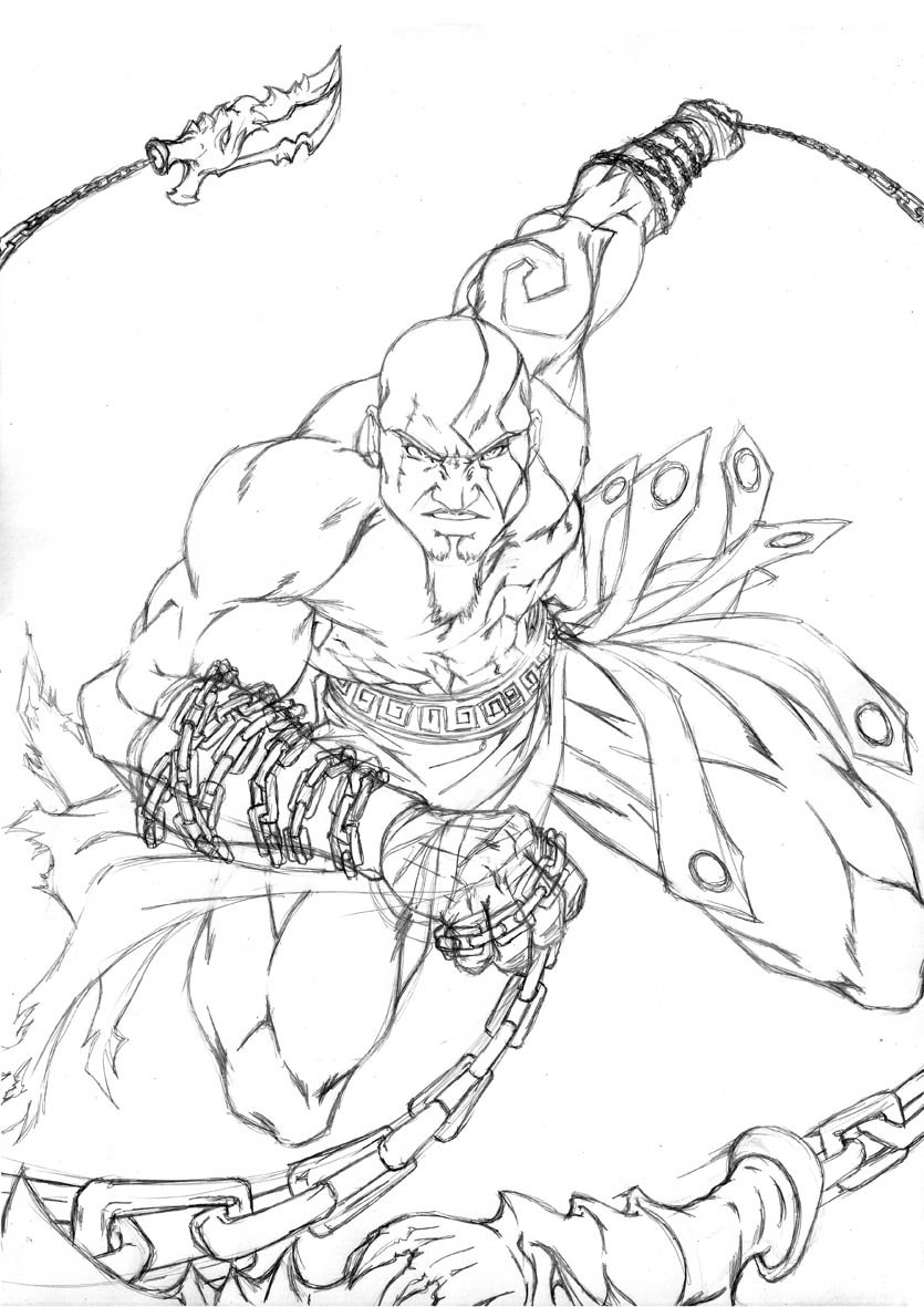 The Best Free Kratos Drawing Images Download From 87 Free