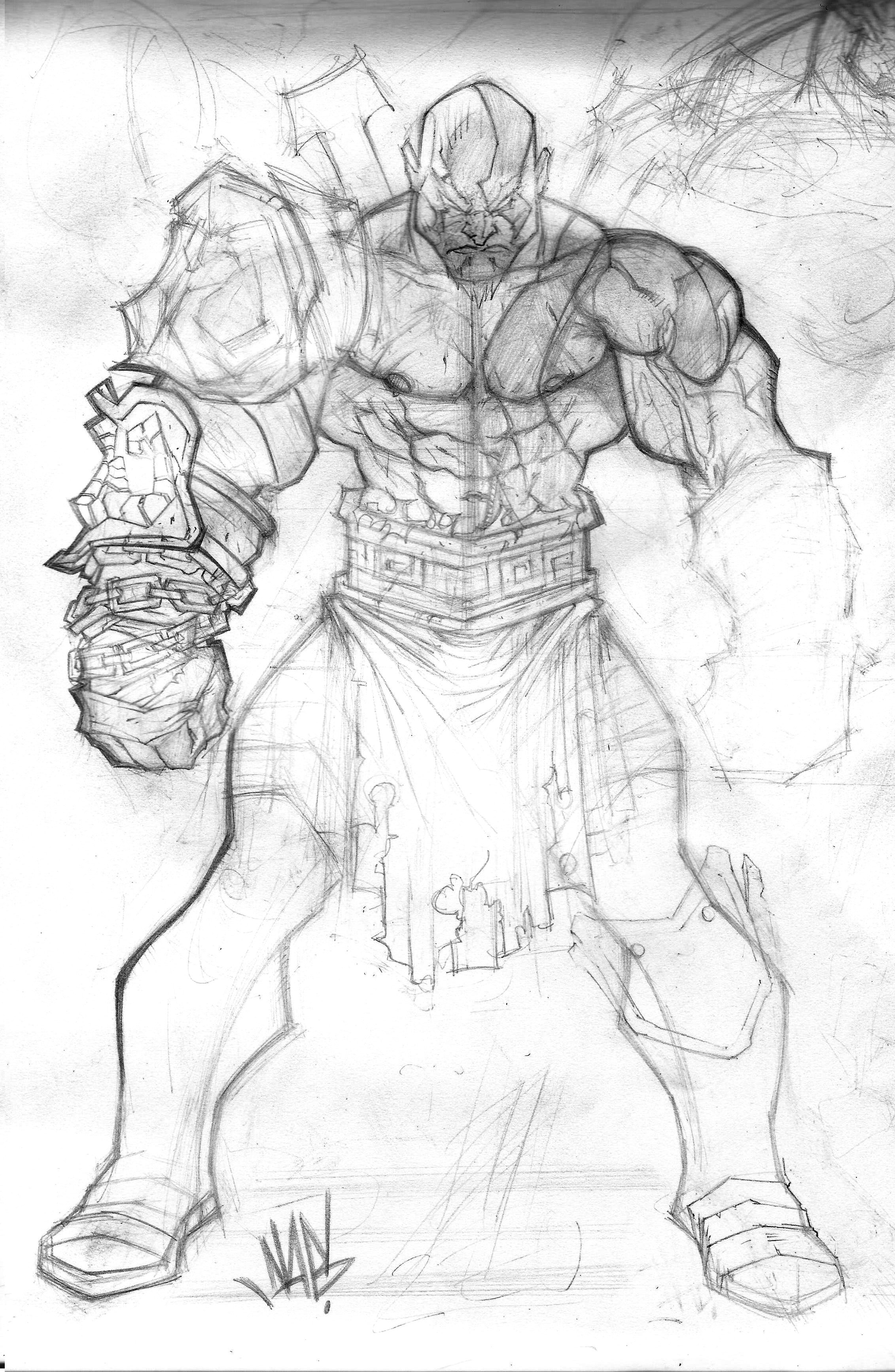 2263x3468 Gow Kratos ! Drawing's Amp Sketches !!! Sketches
