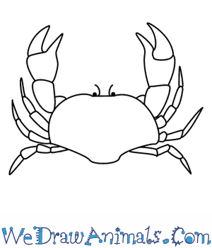 300x350 How To Draw A Crab