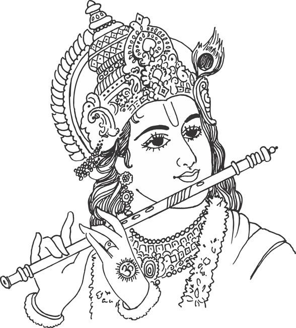 588x650 Krishna Clipart Drawimg