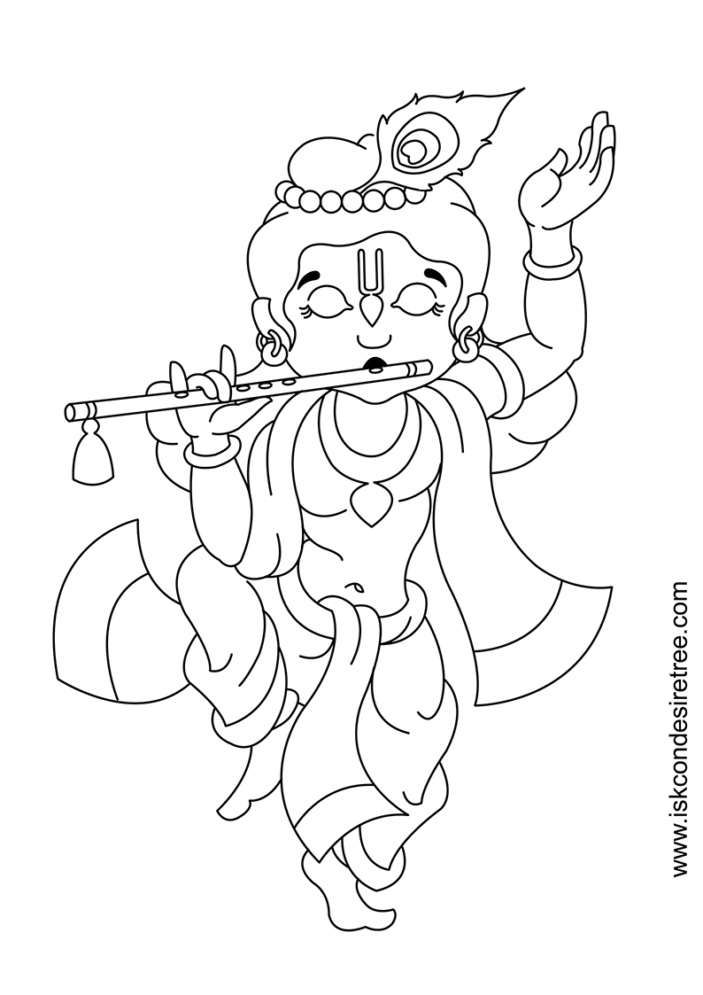 794x1123 A Easy Sketch Of Lord Krishna Lord Krishna Drawings Simple
