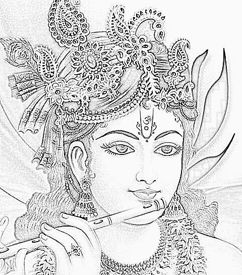 480x545 Lord Krishna Sketches Cartoon Photos