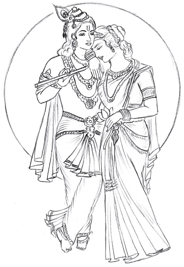 760x1101 Radha Krishna Art Drawing Skill