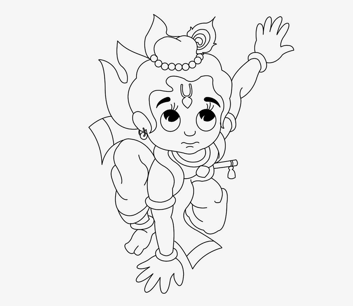 1204x1045 Colour Drawing Free Wallpaper Little Krishna Coloring Drawing