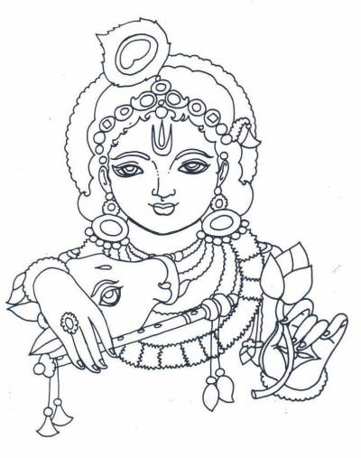 400x507 Line Art Krishna Avatar Pax Krishna And Paintings