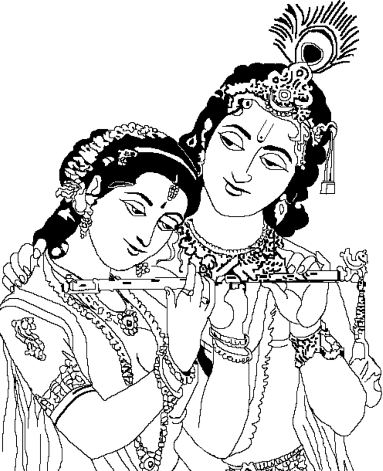 1240x1525 Photos Radha Krishna Line Drawing,