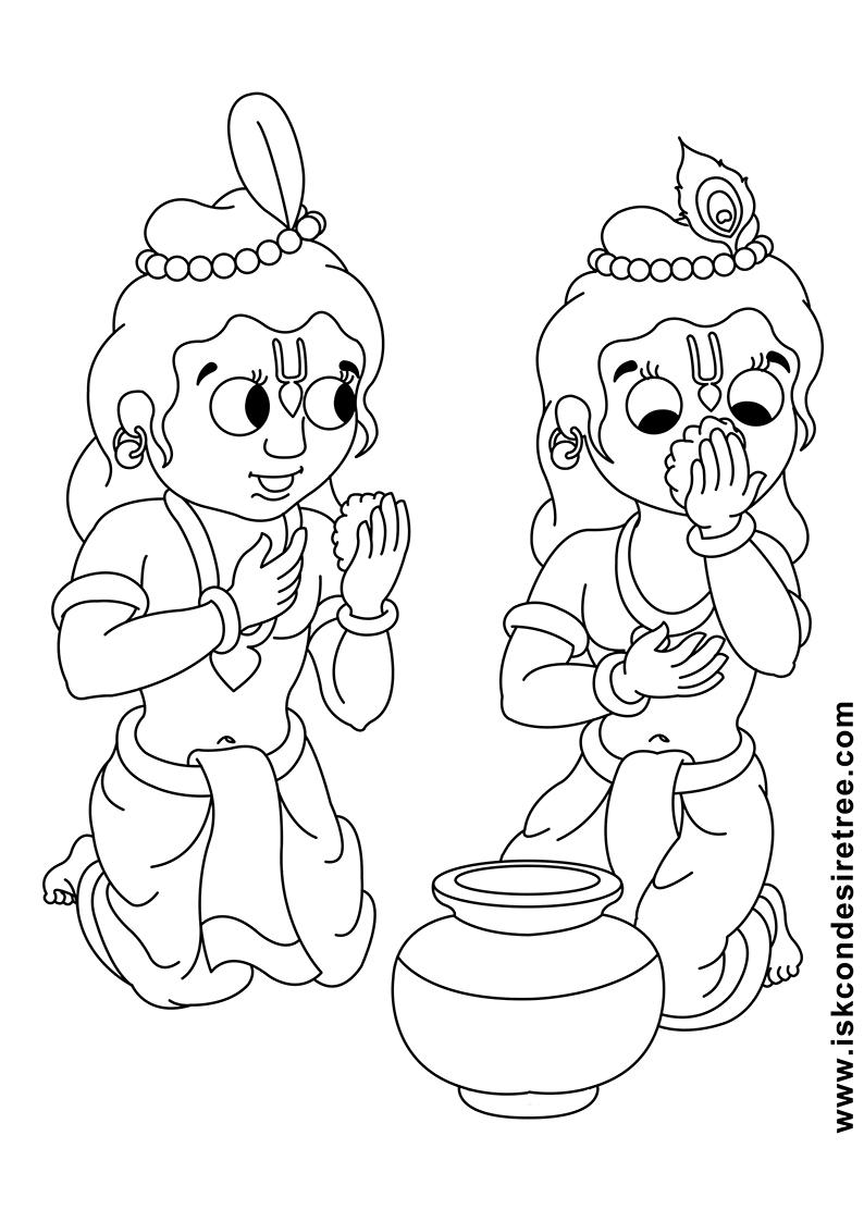 794x1123 Bhagavat Chintan Das (Bhikaji) Sri Krishna Balarama Line Drawing