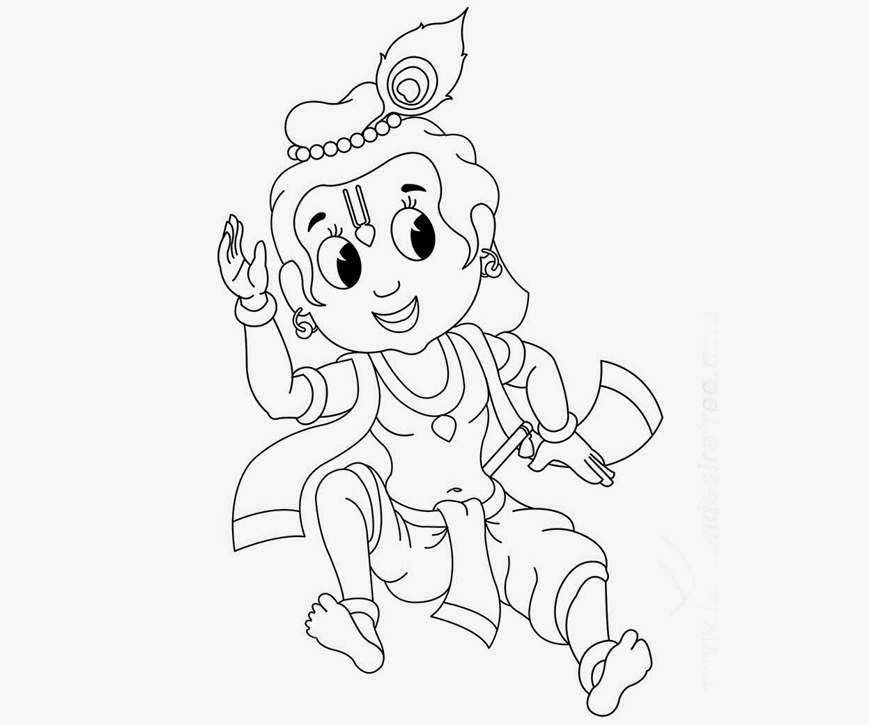 1247x1041 Colour Drawing Free Wallpaper Little Krishna Coloring Drawing