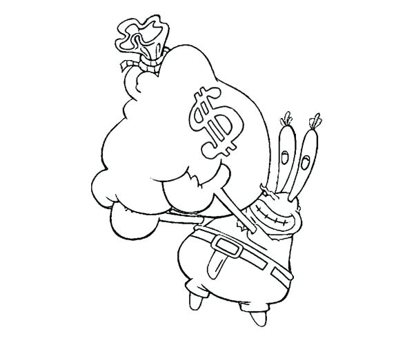 krusty krab coloring pages - photo#36