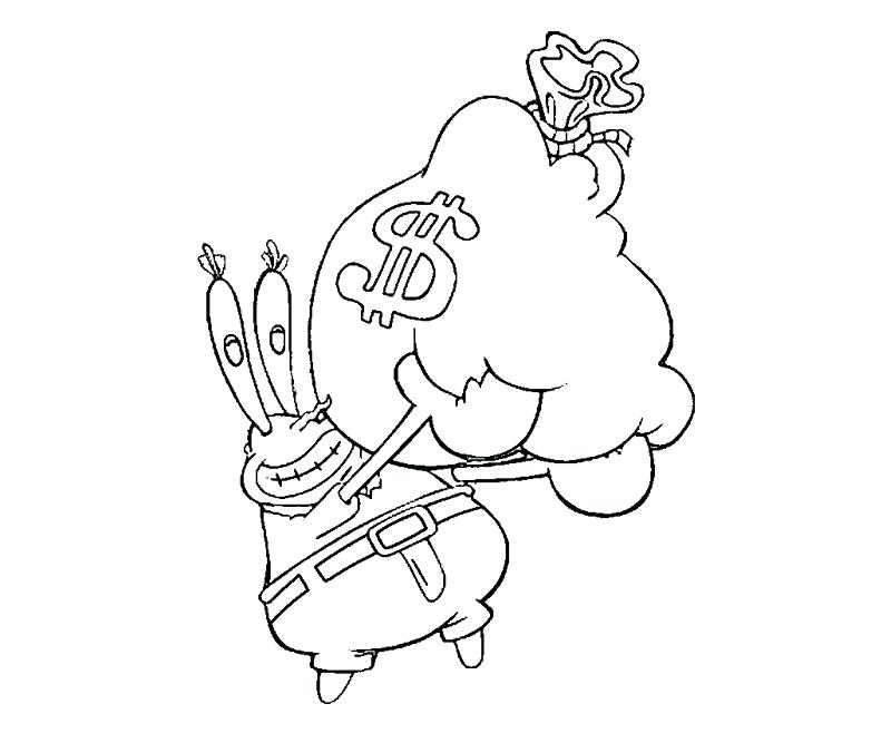 800x667 Mr Krabs Coloring Pages Colouring Pages Spongebob Krusty Krab