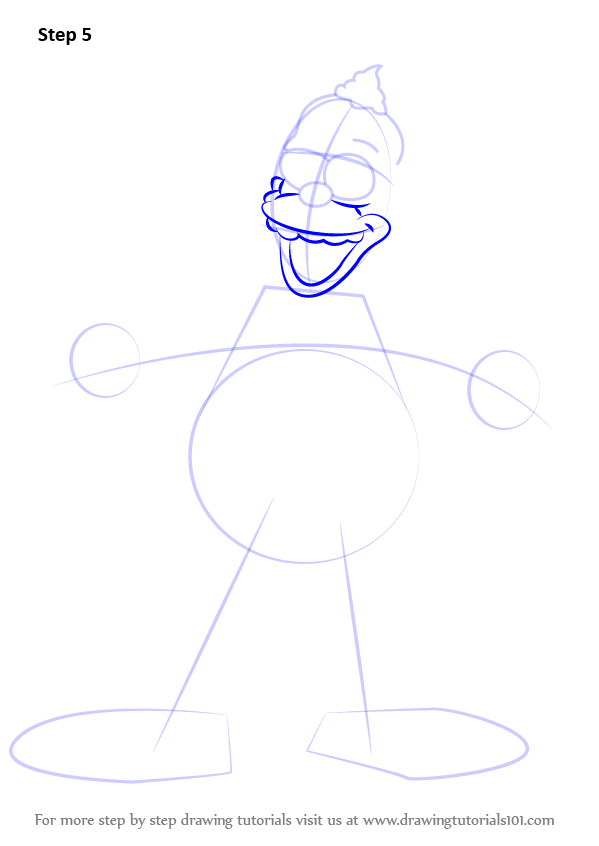 599x846 Learn How To Draw Krusty The Clown From The Simpsons (The Simpsons