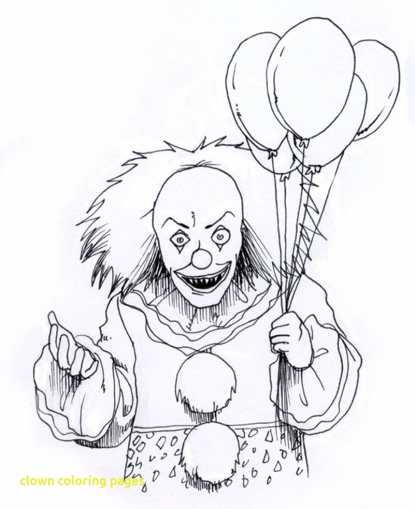 836x1024 Clown Coloring Page Ivector.co