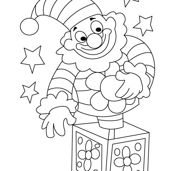 612x600 Clown Coloring Pages For Preschoolers Circus Clown Coloring Page