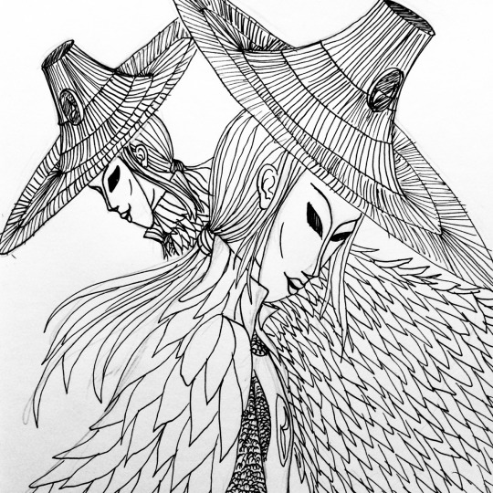 540x540 Inktober Day 14 The Sisters From Kubo By Mkaytee
