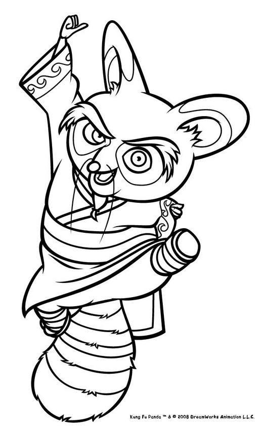 526x850 Onerso Coloring Pages Kung Fu Panda 2