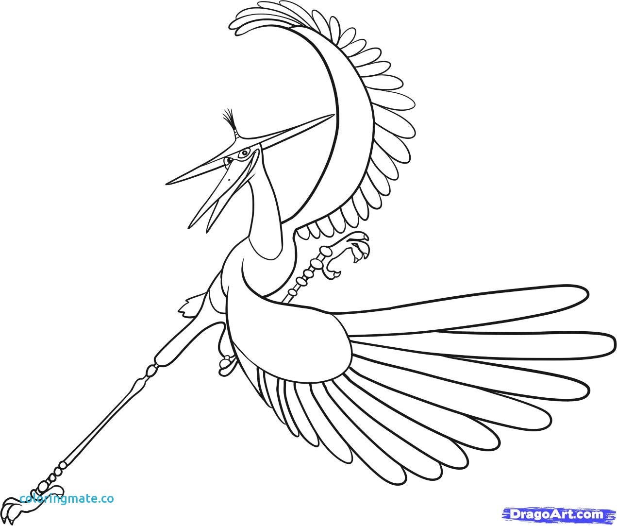 1271x1083 Kung Fu Panda Coloring Pages Lovely How To Draw Crane Master Crane