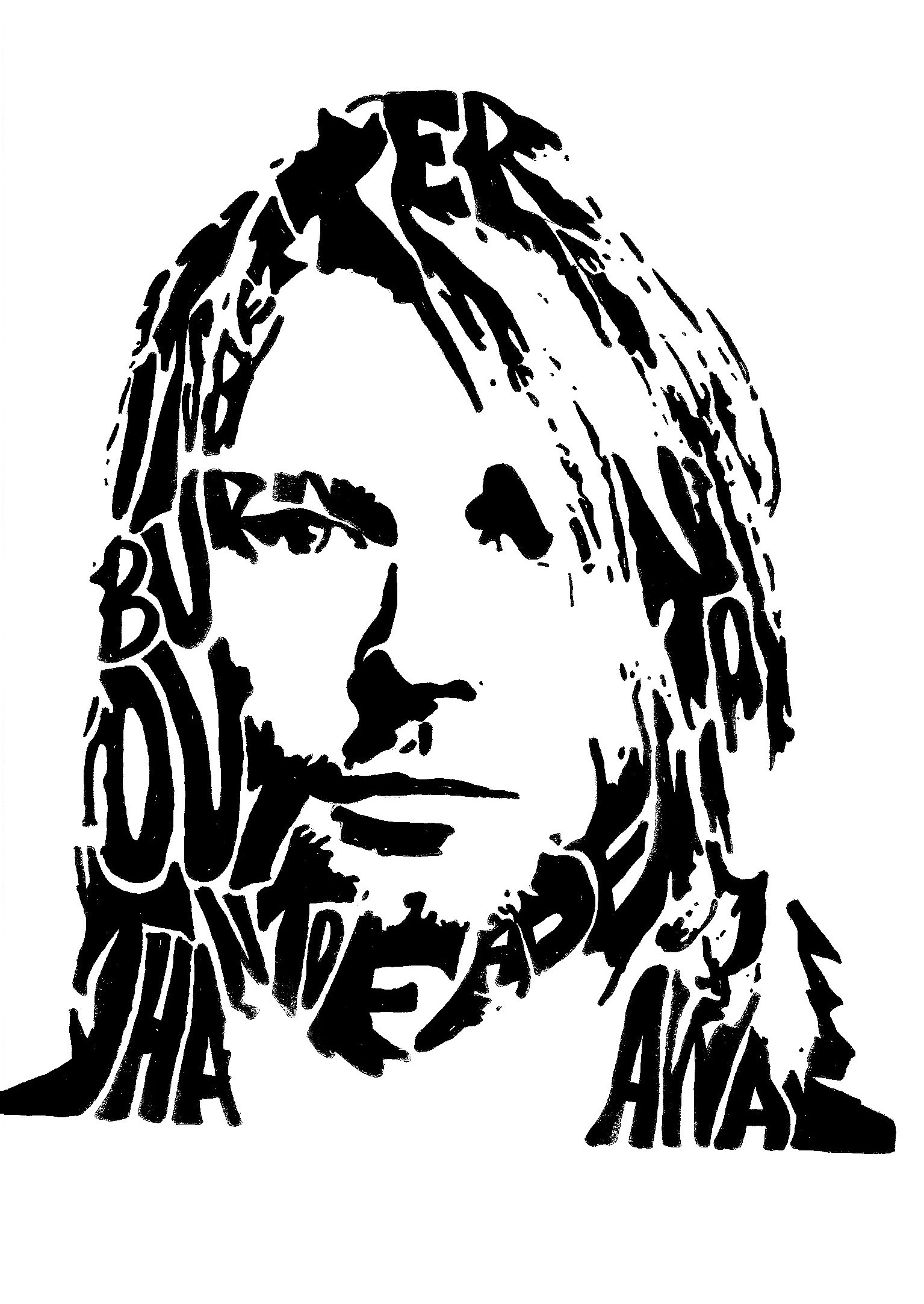 Kurt Cobain Drawing