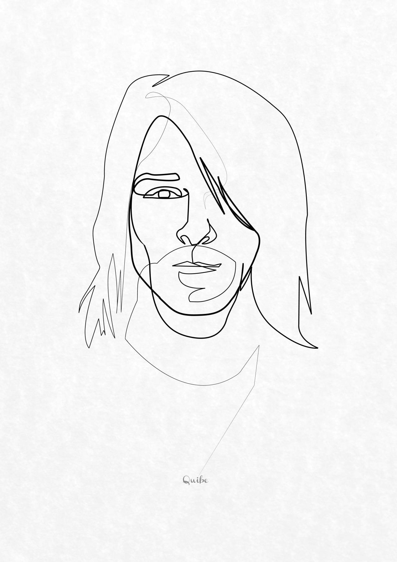1280x1810 Uma Linha De Kurt Cobain Bocetos Minis And Draw