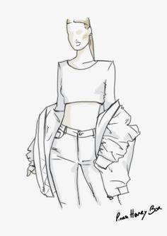236x334 Kylie Jenner Pierre Henry Bor Sketch Illustration My