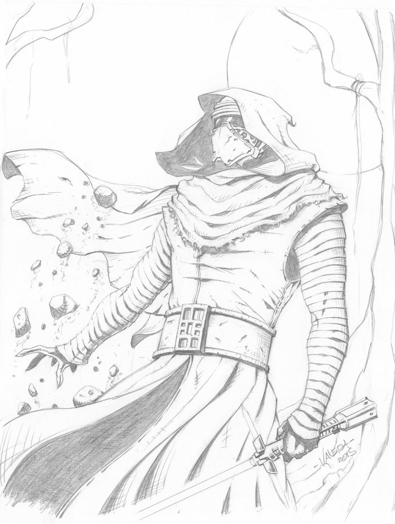 777x1029 Kylo Ren Sketch By Rv1994
