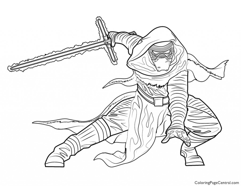 1024x791 Star Wars Kylo Ren Coloring Page Coloring Page Central