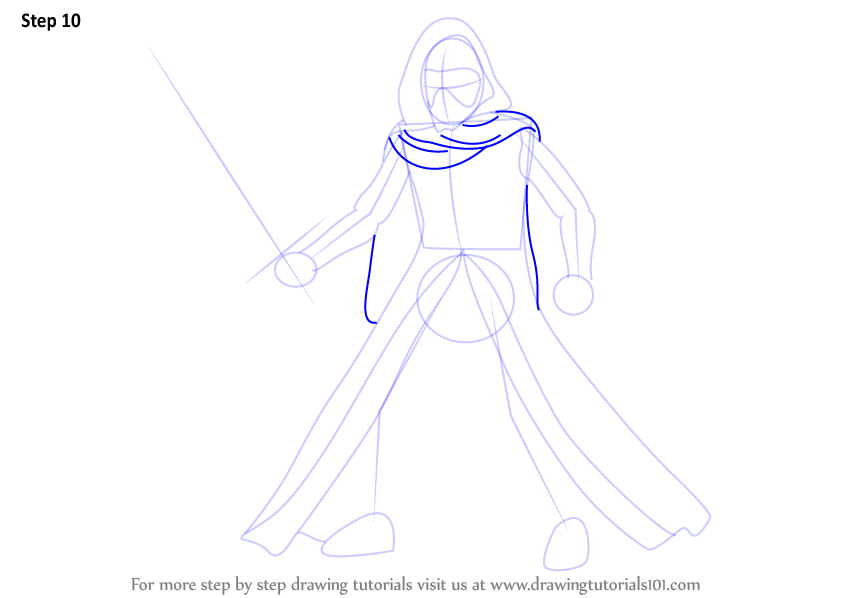 844x598 Step By Step How To Draw Kylo Ren From Star Wars