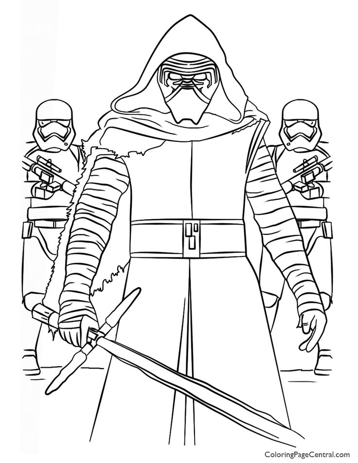 736x952 Kylo Ren Coloring Book Kylo Ren Colouring Book