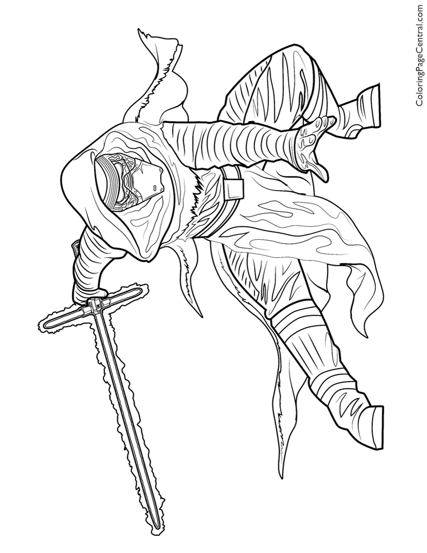 850x1100 Kylo Ren Coloring Pages Kylo Ren Coloring Pages Free