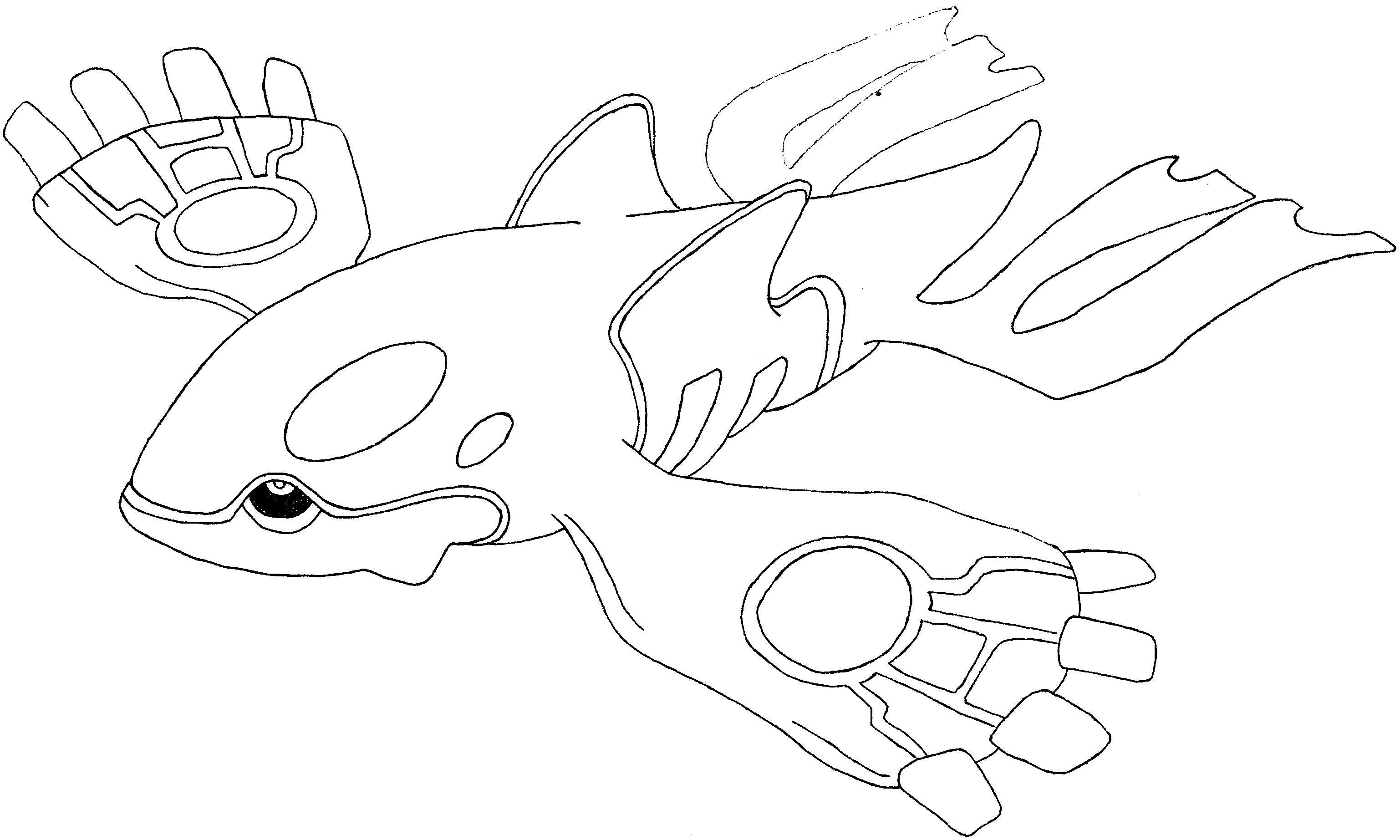 3075x1845 Kyogre Coloring Pages