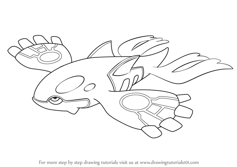 800x566 Learn How To Draw Kyogre From Pokemon (Pokemon) Step By Step