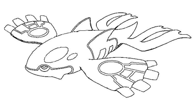 750x401 Legendary Pokemon Coloring Pages Kyogre Coloringstar