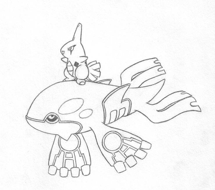 740x654 Little Kyogre surfin Larvitar By Sunnyfish