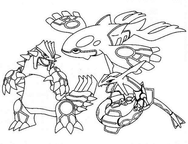 620x475 Groudon, Kyogre, Rayquaza By Blackkyurem2