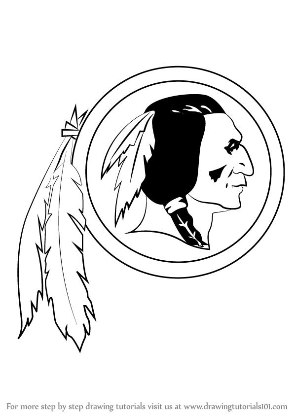 598x844 Learn How To Draw Washington Redskins Logo (Nfl) Step By Step