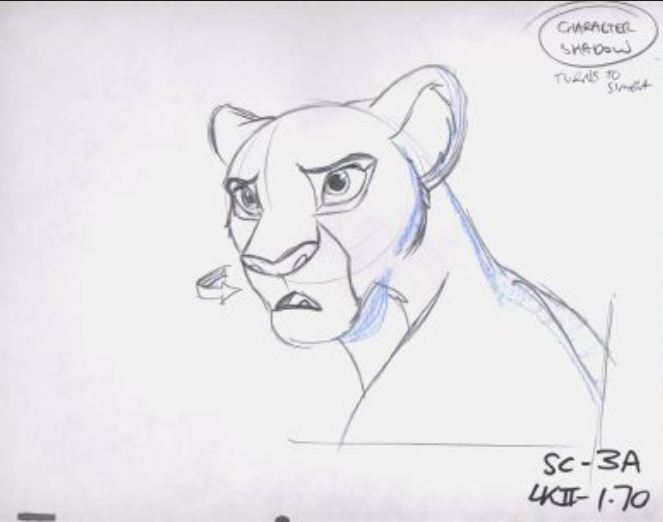 663x522 Animation Sketches The Lion King