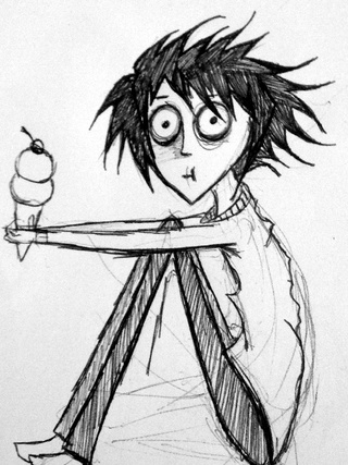 320x427 Every Time I See L On Deathnote His Big Eyes And Spiky Hair Always